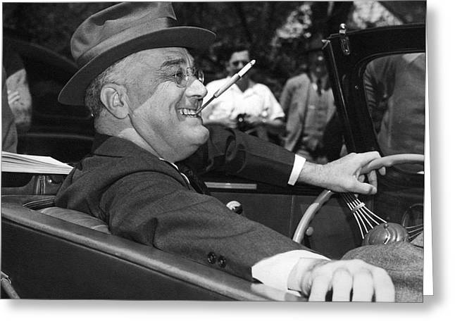 President Franklin Roosevelt Greeting Card by Underwood Archives