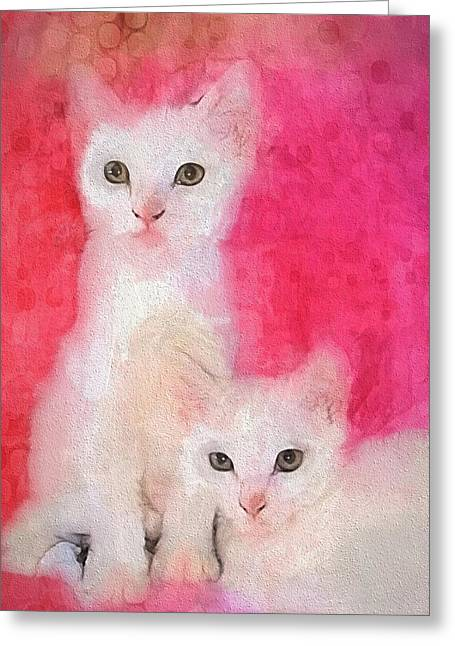 Digipho333 Studio Greeting Cards - Pretty In Pink Greeting Card by Shannon Story
