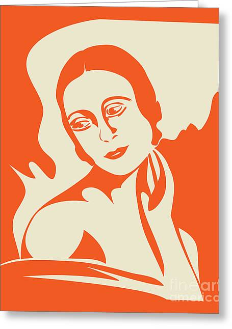 Linocut Greeting Cards - Prima Ballerina Greeting Card by Igor Kislev