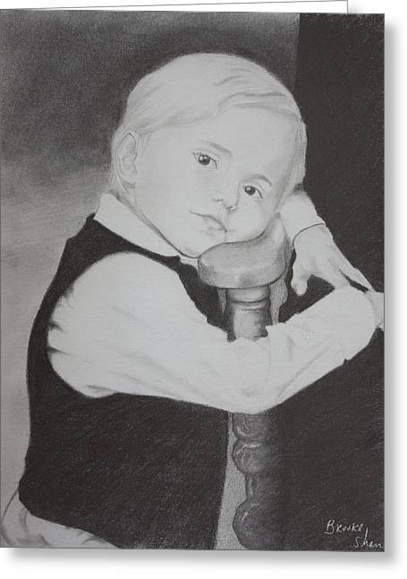 Childre Greeting Cards - Prince Jackson Greeting Card by Brooke Shane