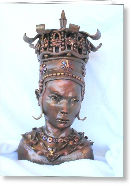 Bust Sculptures Greeting Cards - Princess Lu Greeting Card by Wayne Niemi