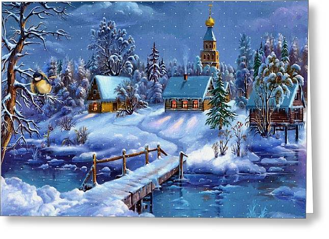 New Year Greeting Cards - Print New Year Greeting Card by Victor Gladkiy