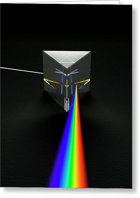 Prism And Spectrum Greeting Card by David Parker