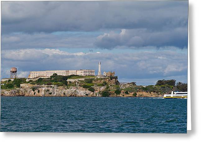San Francisco Bay Greeting Cards - Prison On An Island, Alcatraz Island Greeting Card by Panoramic Images