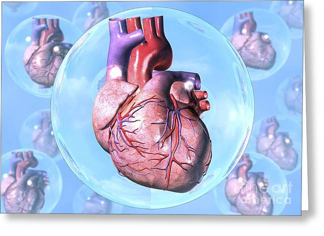 Heart Disease Greeting Cards - Protected Heart, Conceptual Artwork Greeting Card by David Mack