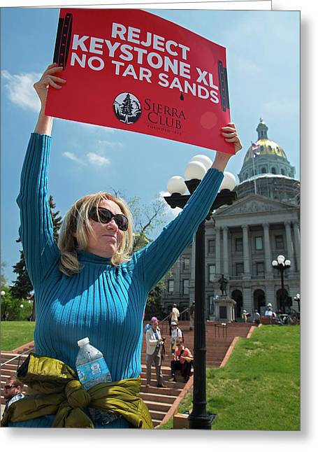 Protest Against Keystone Xl Pipeline Greeting Card by Jim West