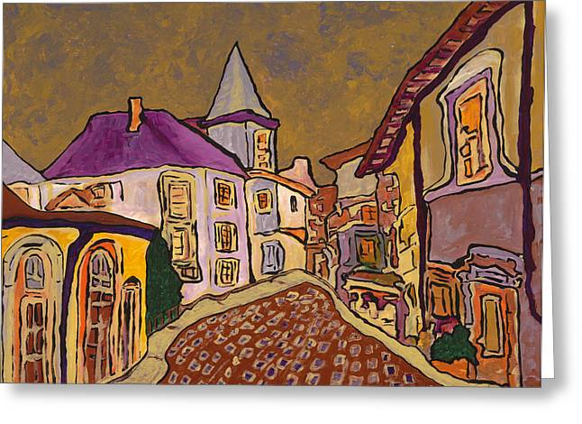 Prague Paintings Greeting Cards - Provence Greeting Card by Oscar Penalber