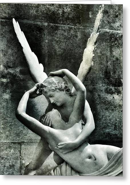 Stomach Greeting Cards - Psyche Revived by Cupids Kiss Greeting Card by Marianna Mills