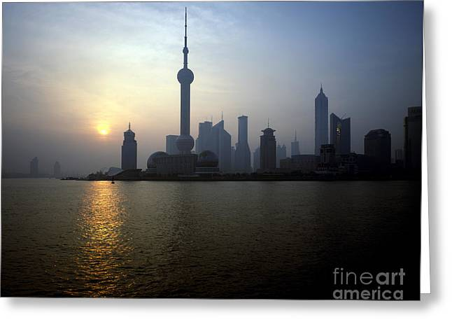 Pudong Greeting Cards - Pudong Greeting Card by Rafael Macia