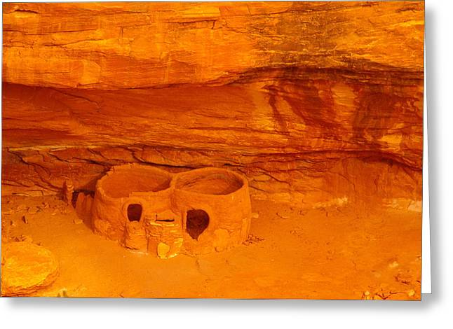 Indian Ruins Greeting Cards - Pueblo Indian Ruins  Greeting Card by Jeff  Swan