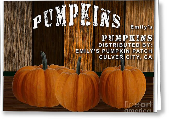 Restaurant Art Greeting Cards - Pumpkin Patch Greeting Card by Marvin Blaine
