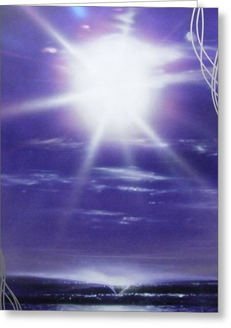 Surfing Art Greeting Cards - Purple Aura Greeting Card by Christian Chapman Art