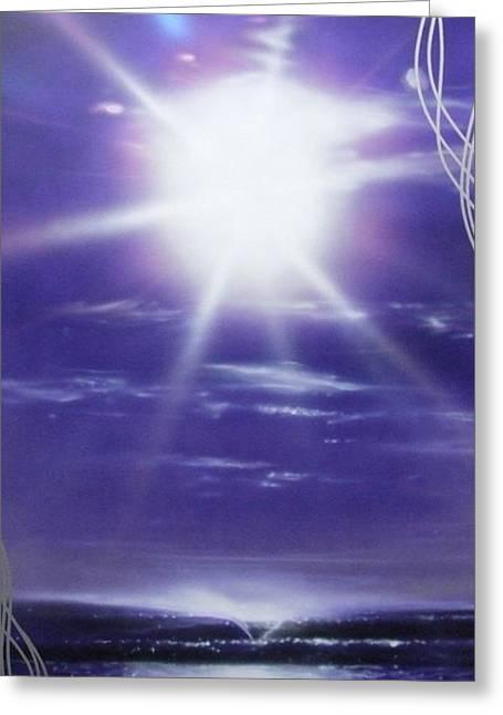 Ocean - ' Purple Aura ' Greeting Card by Christian Chapman Art