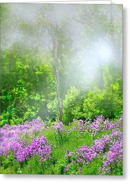 Dreamy Landscape Greeting Cards - Purple Haze Greeting Card by Diana Angstadt
