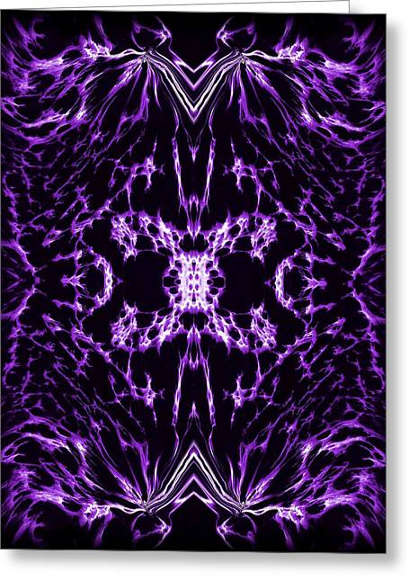 Wall Greeting Cards - Purple Series 2 Greeting Card by J D Owen