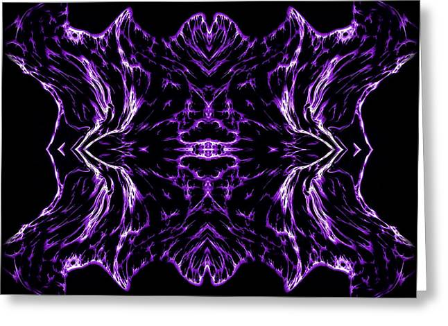 Reflective Greeting Cards - Purple Series 7 Greeting Card by J D Owen