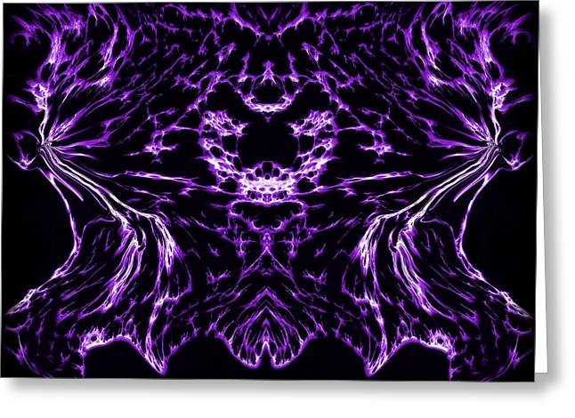 Purple Series 8 Greeting Card by J D Owen