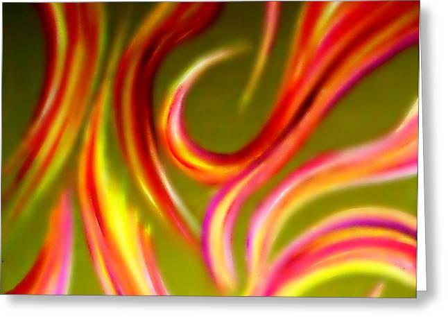 Pyromania Greeting Card by Cyryn Fyrcyd