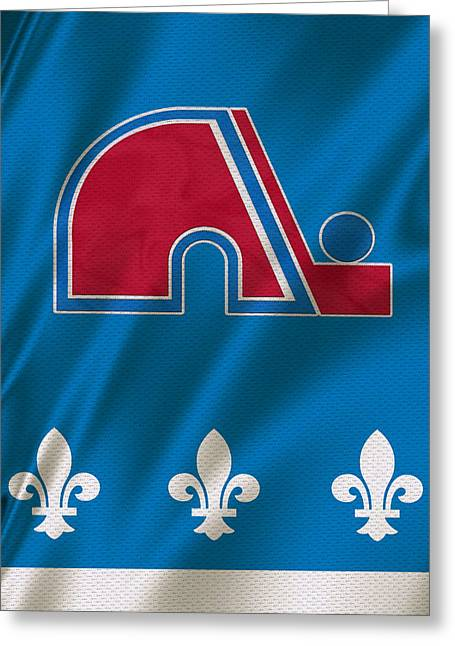 Skates Greeting Cards - Quebec Nordiques Greeting Card by Joe Hamilton