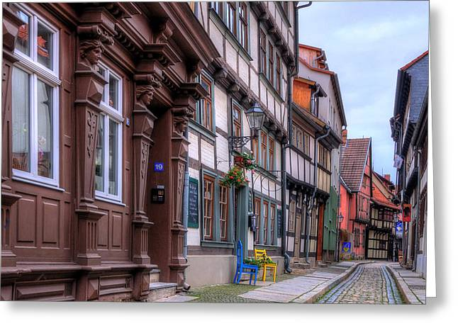 Haus Pyrography Greeting Cards - Quedlinburg Greeting Card by Steffen Gierok