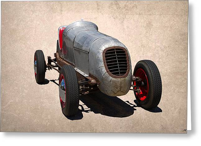 Salt Flat Pictures Greeting Cards - Race Car Greeting Card by Nick Gray