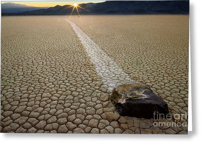 Geology Photographs Greeting Cards - Racing Rock Greeting Card by Inge Johnsson