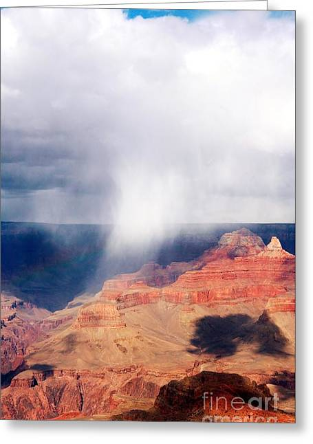 Raining In The Canyon Greeting Card by Kathleen Struckle