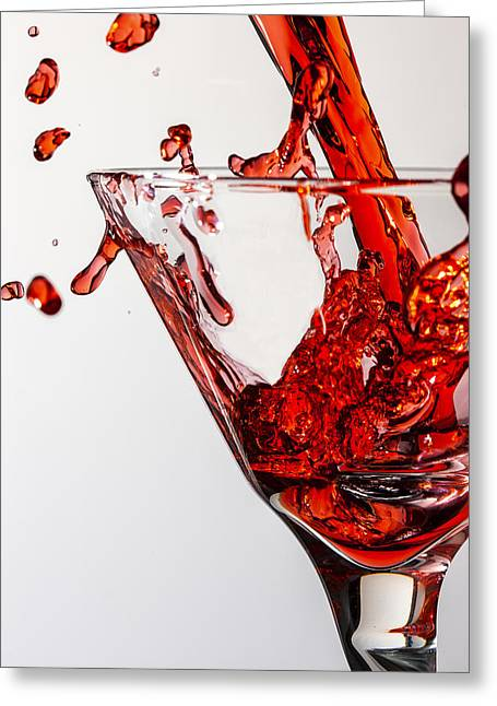 Comtemporary Art Greeting Cards - Random Red Greeting Card by Jon Glaser