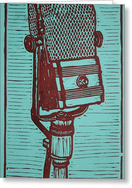 Lino Drawings Greeting Cards - Rca 44 Greeting Card by William Cauthern