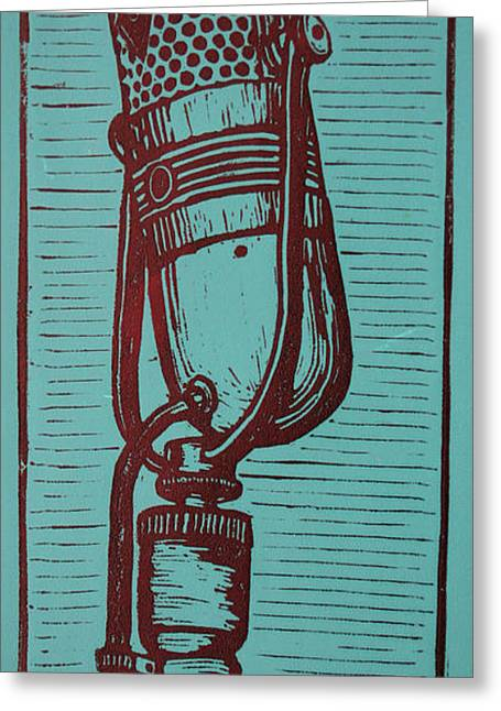 Lino Drawings Greeting Cards - Rca 77 Greeting Card by William Cauthern