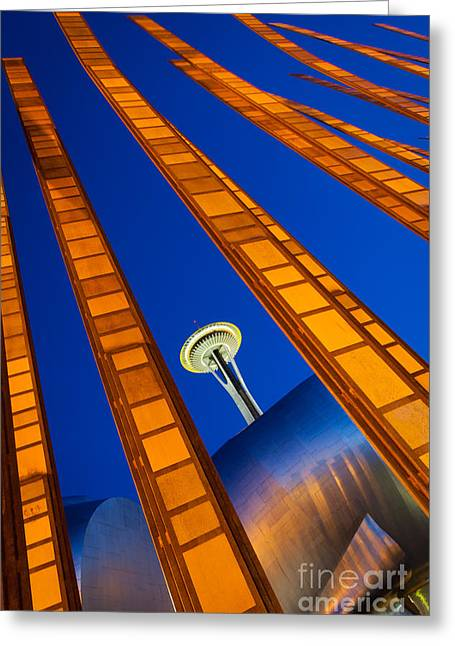 Stretched Greeting Cards - Reach for the sky Greeting Card by Inge Johnsson