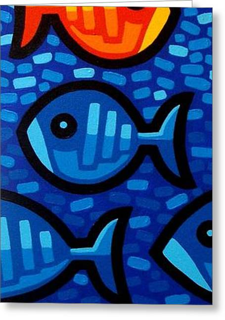 Water Framed Prints Greeting Cards - Rebel Fish II Greeting Card by John  Nolan