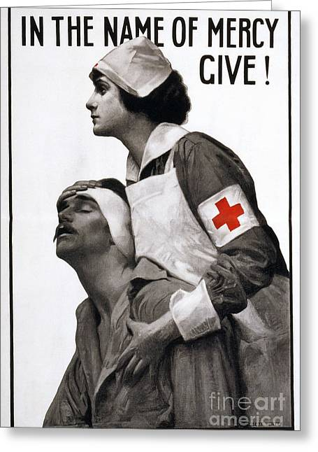Fundraiser Greeting Cards - Red Cross Poster, 1917 Greeting Card by Granger