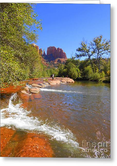 Red Rock Crossing Greeting Cards - Red Rock Crossing Greeting Card by R Dupras