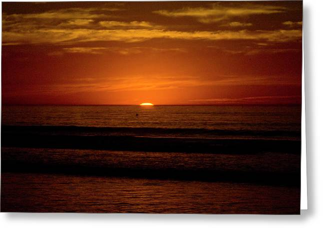 Terry Thomas Greeting Cards - Red Sunset Greeting Card by Terry Thomas