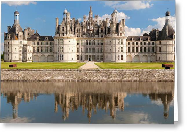 Royalty Greeting Cards - Reflection Of A Castle In A River Greeting Card by Panoramic Images