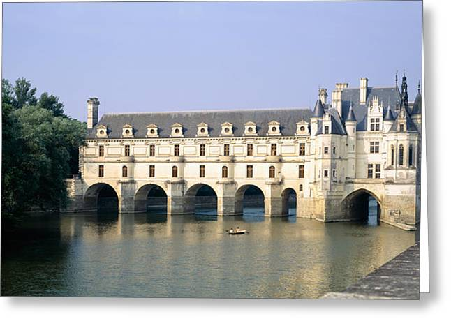 Chateau Greeting Cards - Reflection Of A Castle In Water Greeting Card by Panoramic Images