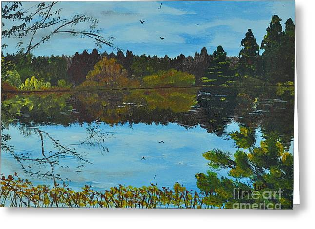 Spokane Paintings Greeting Cards - Reflections Greeting Card by Ana Lusi