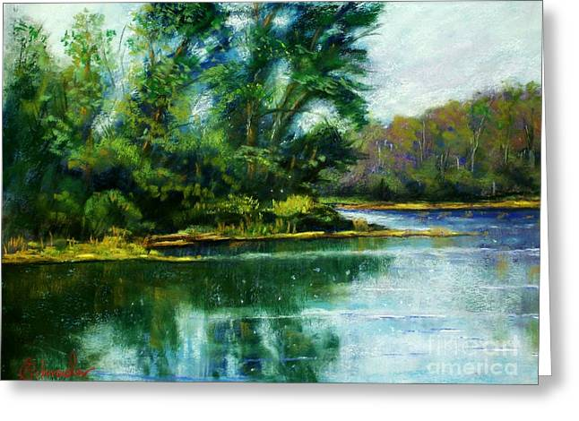 Etc. Pastels Greeting Cards - Reflections Greeting Card by Bruce Schrader
