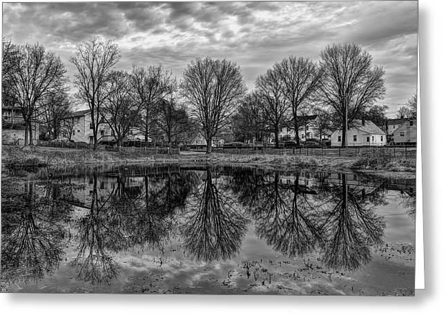 Stratford Ct Greeting Cards - Reflections Greeting Card by Lechmoore Simms