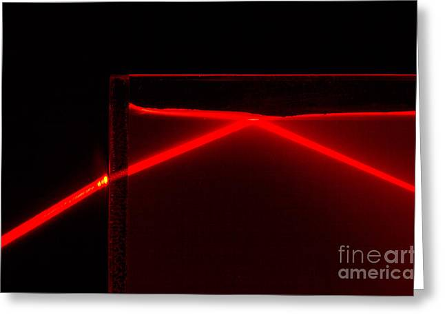 Science Greeting Cards - Refraction And Total Internal Reflection Greeting Card by GIPhotoStock