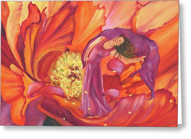 Dance Of Joy Greeting Cards - Releasing His Fragrance Greeting Card by Jeanette Sthamann