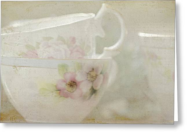 Vintage Teacup Greeting Cards - Remember When Greeting Card by Bonnie Bruno