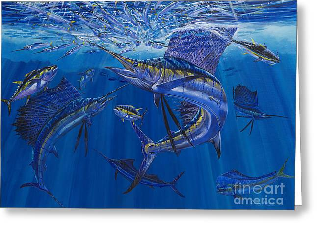 Gamefish Greeting Cards - Rendezvous  Greeting Card by Carey Chen
