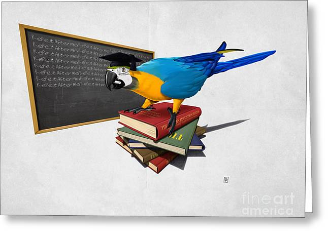 Parrot Mixed Media Greeting Cards - Repeat Wordless Greeting Card by Rob Snow
