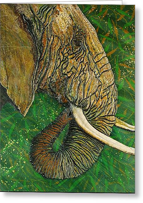 Debbie Chamberlin Greeting Cards - Respect Greeting Card by Debbie Chamberlin