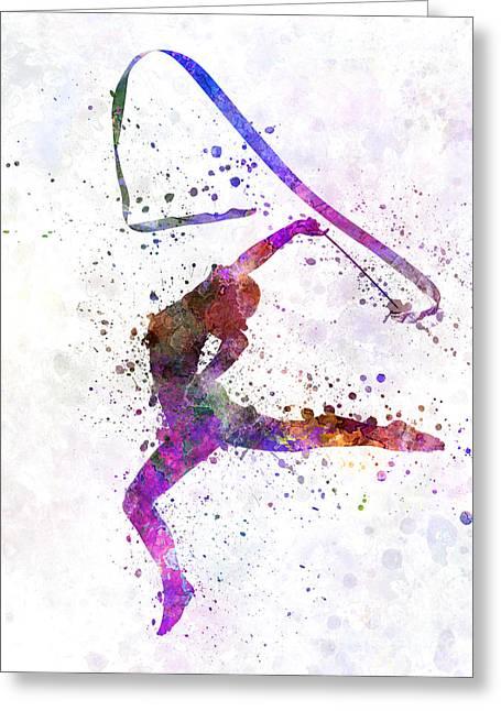 Rhythmic Greeting Cards - Rhythmic Gymnastics Greeting Card by Pablo Romero