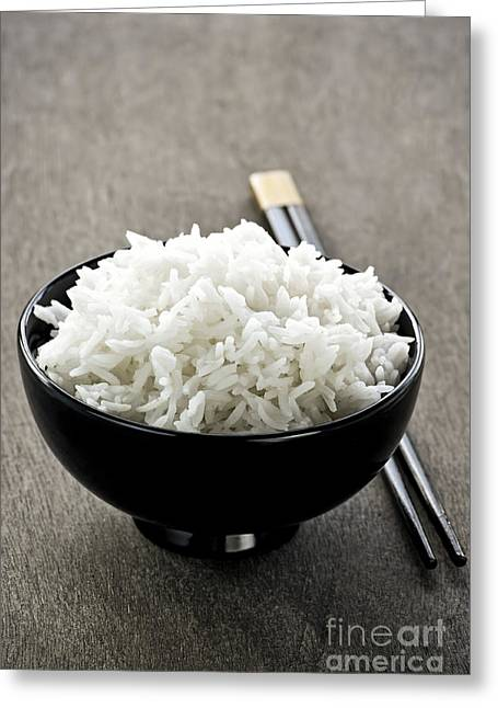 Orient Photographs Greeting Cards - Rice Greeting Card by Elena Elisseeva