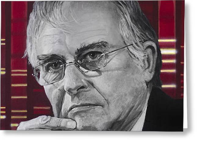 Print Greeting Cards - Richard Dawkins Greeting Card by Simon Kregar