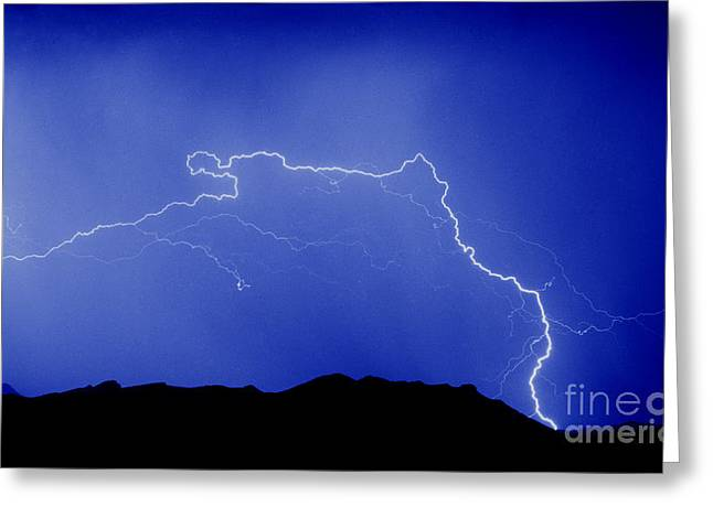 Rincon Greeting Cards - Rincon Lightning Greeting Card by J L Woody Wooden